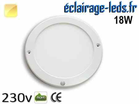 Spot LED 18W Blanc chaud détecteur de présence 230v