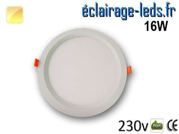 New Spot LED Ultra Slim 16W blanc chaud 230V