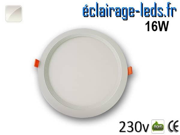 New Spot LED Ultra Slim 16W blanc naturel 230V