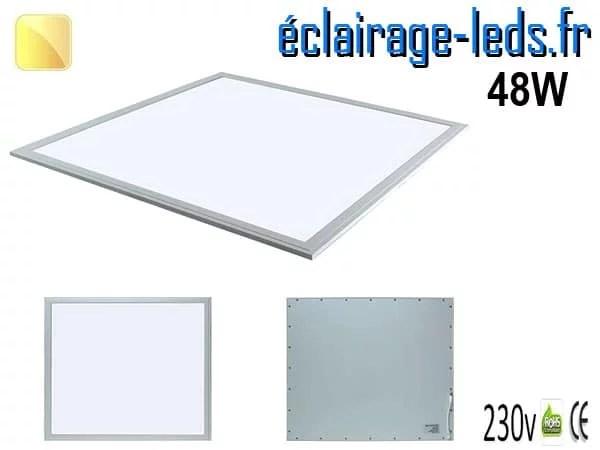 dalle LED 48W Blanc chaud 600x600 230v