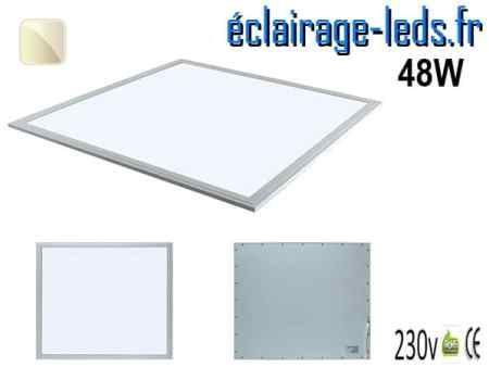 dalle LED 48W Blanc naturel 600x600 230v