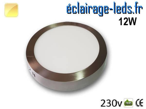 pot LED Chrome 12W Blanc chaud design deporte 230V