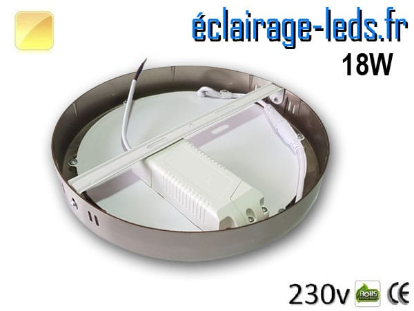 Spot LED Chrome 18W Blanc chaud design deporte