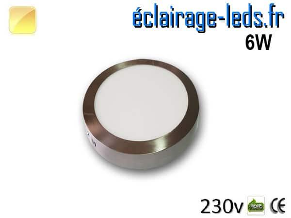Spot LED Chrome 6W Blanc chaud design deporte 230V