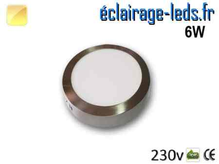 Spot LED Chrome 6W Blanc chaud design deporte 230V