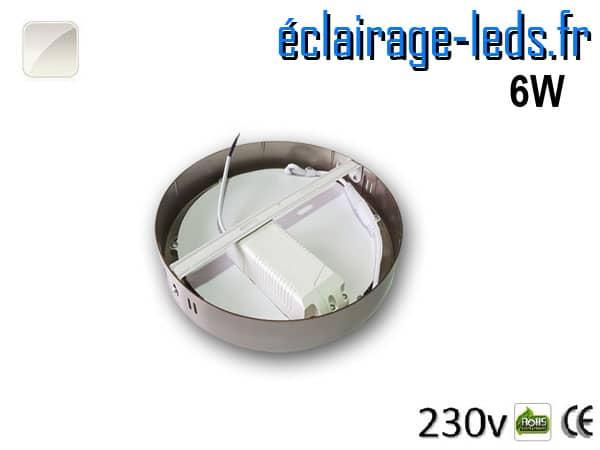 Spot LED Chrome 6W Blanc naturel design deporte