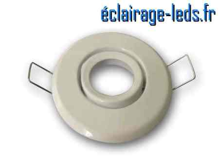 Support LED MR11 encastrable blanc orientable perçage 53mm