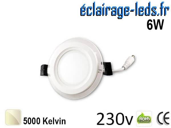 Spot LED Slim 6w blanc naturel perçage 75mm 230v