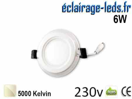 Spot LED Slim 6w blanc naturel perçage 75mm 230v