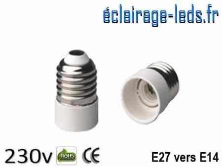 Adaptateur ampoule LED E27 vers ampoule LED E14