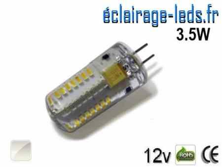 Ampoule Led G4 3.5W silicone SMD 3014 Blanc Naturel 12v
