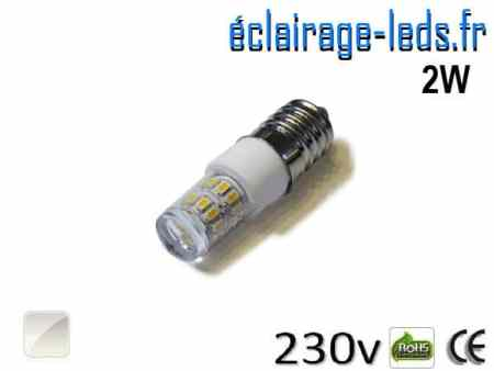 Ampoule LED E14 2W Blanc naturel 230V