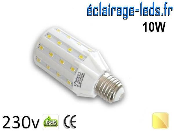 Ampoule LED E27 10W SMD2835 Blanc chaud 230V