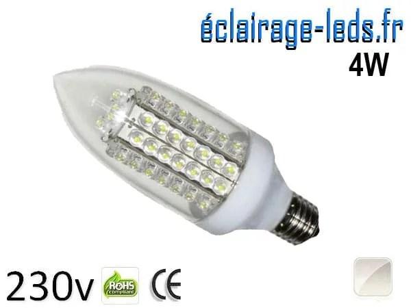 Ampoule LED E27 flamme 4W Blanc naturel 230V