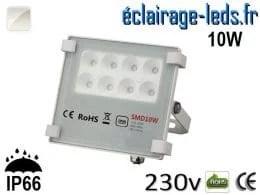 Projecteur LED exterieur Ultra plat 10W IP66 blanc 230v