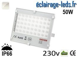 Projecteur LED exterieur Ultra plat 50W IP66 blanc 230v