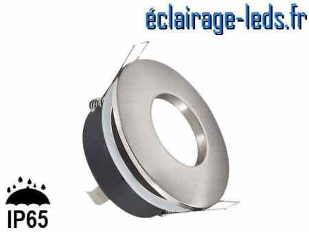 Spot LED encastrable rond alu IP65 perçage 70mm