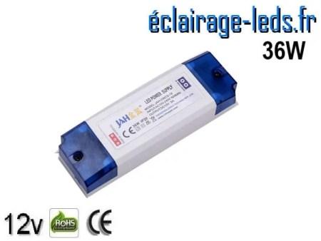 Transformateur LED pour intégration 12V DC 36W