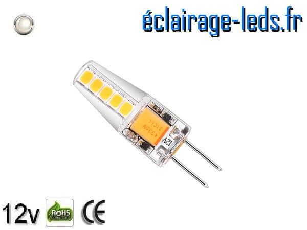 Ampoule led G4 2w SMD 2835 blanc 6000K 10~24v DC ref A192-2