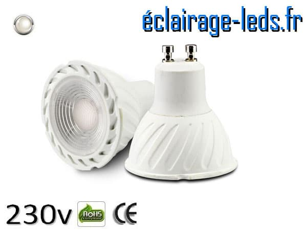 Ampoule led GU10 5w COB blanc naturel 4000K