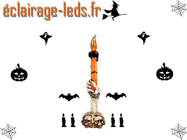 Chandelier LED Orange 21 cm décoration Halloween