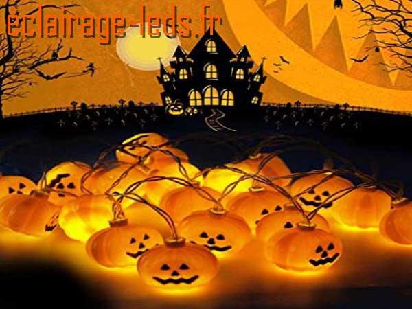 Guirlande Halloween LED 2.50m 20 citrouilles 1