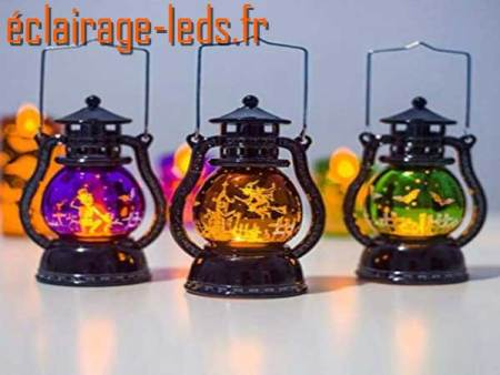 Lanterne LED décoration Halloween 15 cm 1