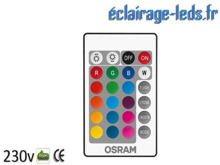 Ampoule LED E14 Blanc Chaud & Couleurs Télécommandée 4,3W 1