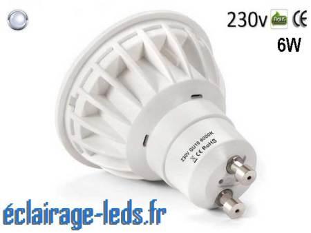 Ampoule led GU10 6W Blanc Froid 500lm Équiv 50W
