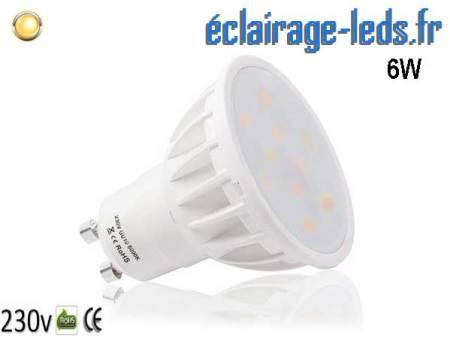 Ampoule led GU10 6W Blanc Chaud 500lm équiv 50W 120°