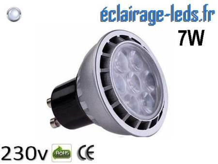 Ampoule led GU10 7W Blanc Froid 6000K Équiv 60W 60°