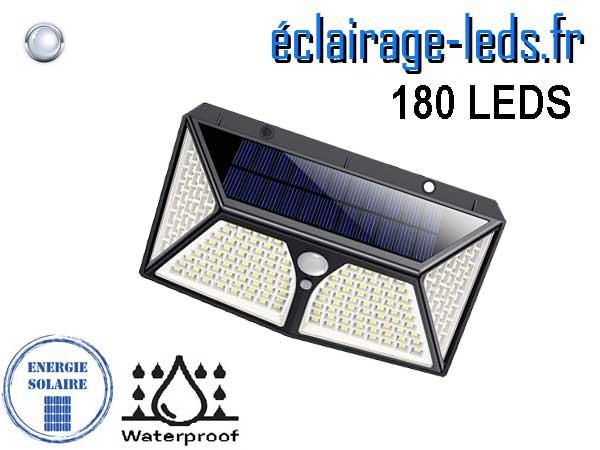 Applique LEDS solaire 180 leds