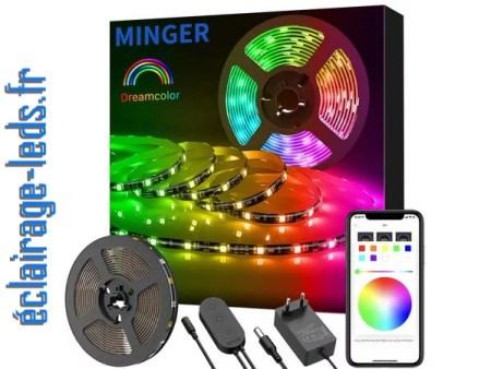 Bandeau LED RGB 5m éclairage d'ambiance