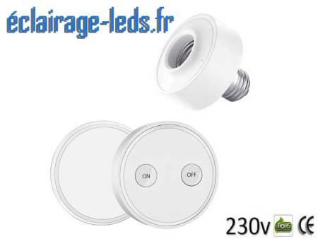 Douille E27 commandée à distance Max 30w pour lampe et ampoule LED