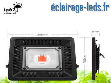 Projecteur LED Horticole 50w plein spectre IP67 2