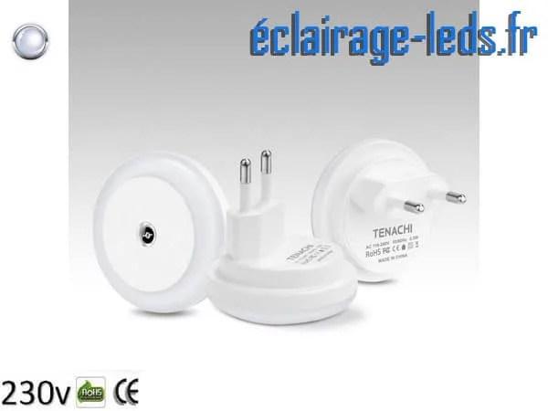 Veilleuse LED automatique sur prise électrique mod. rond