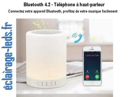 Veilleuse LED Bluetooth RGB portable rechargeable sur prise USB