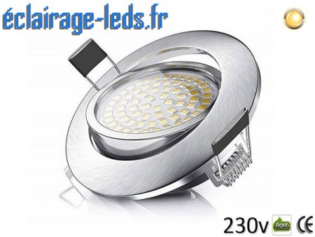 Spot led Encastrable Orientable 5W Ultraslim Blanc Chaud