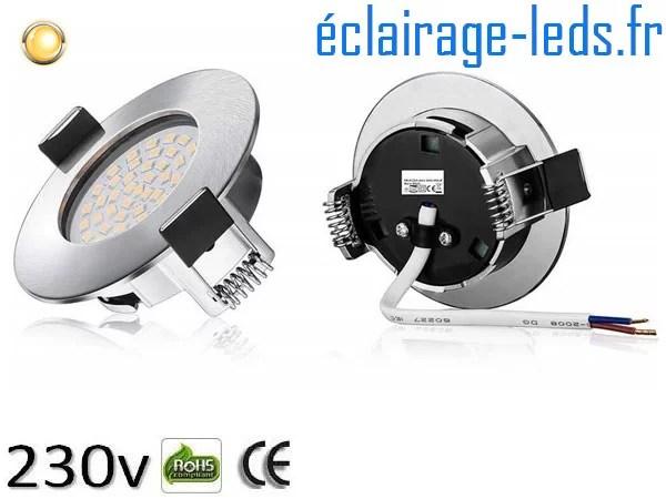 Spot led Encastrable Fixe 5W Ultraslim Blanc Chaud 230V IP44