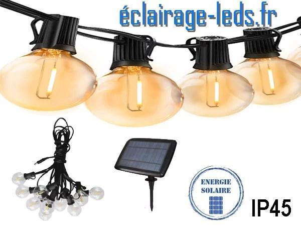 Guirlande LED solaire 5M led COB blanc chaud IP45
