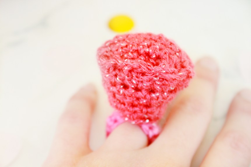 Gem Ring Candy Free Crochet Pattern: 31 Days of Candy by E'Claire Makery
