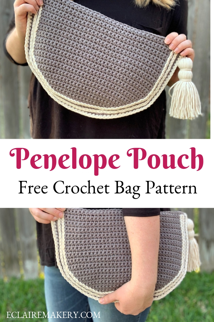 Penelope Pouch Free Crochet Bag Pattern on ECLAIREMAKERY.COM