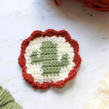 Tapestry Crochet Cactus Coasters: Free Crochet Pattern