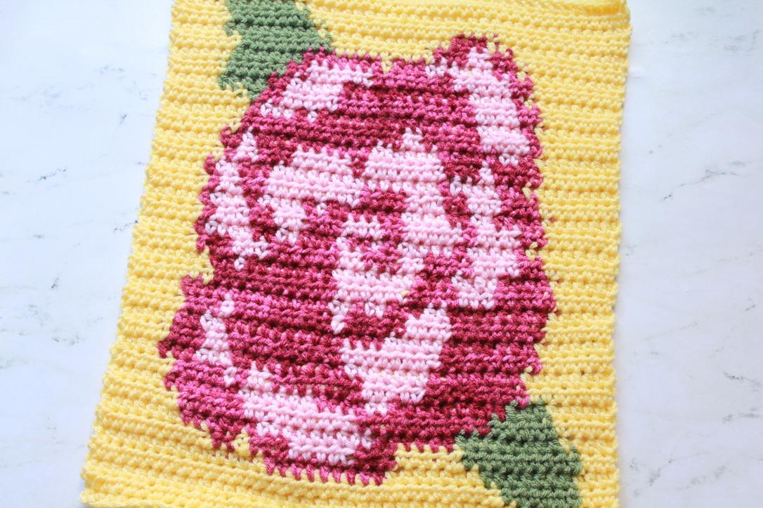 May Flowers Blanket Crochet Rose Block