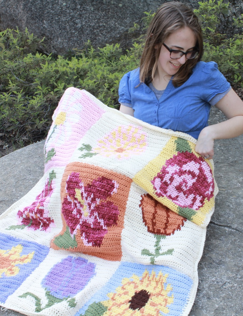 May Flowers Blanket Crochet Along: Assembly and Border