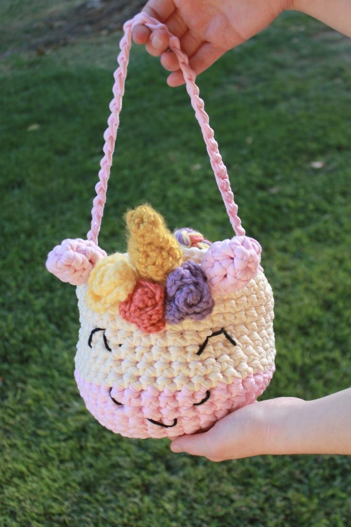 Cute Unicorn Crochet Bag: Free Crochet Pattern