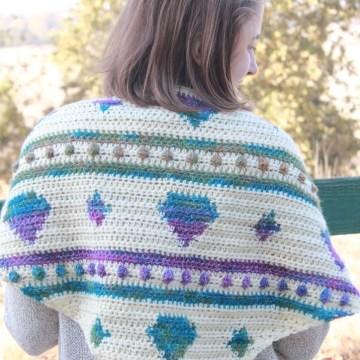 Gemstone Shawl: Free Tapestry Crochet Shawl Pattern