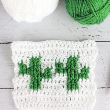 Cactus Stitch: Free Tapestry Crochet Stitch Pattern