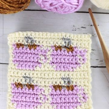 Coffee Mug Stitch: Free Tapestry Crochet Stitch Pattern