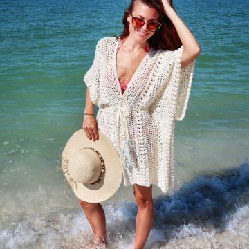 Tranquility Ruana: Free Crochet Beach Cover Up Pattern